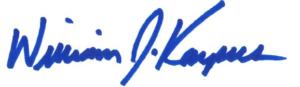 Dean's signature
