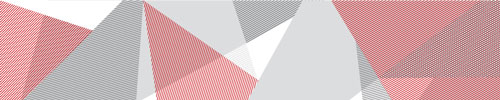 Red and gray geometric pattern