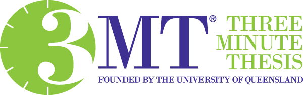 3MT Three Minute Thesis Founded by the University of Queensland logo