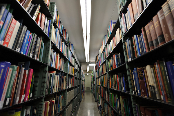 The stacks in Memorial Library
